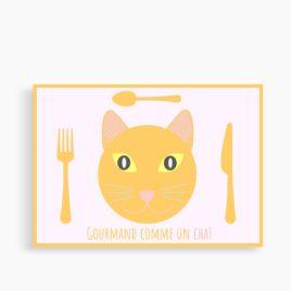 """Le set """"Gourmand comme un chat"""" (personnalisable)"""