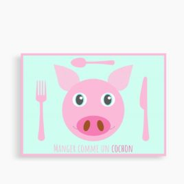 """Le set """"Manger comme un cochon"""" (personnalisable)"""
