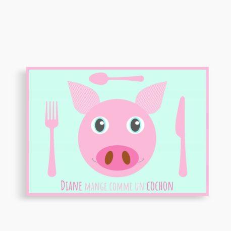 """Set personnalisé """"Manger comme un cochon"""""""