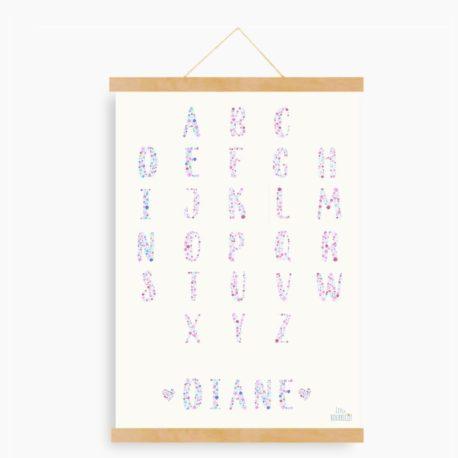ABC fleuri Diane -fond clair