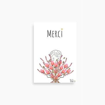 La petite carte MERCI (Bouquet)