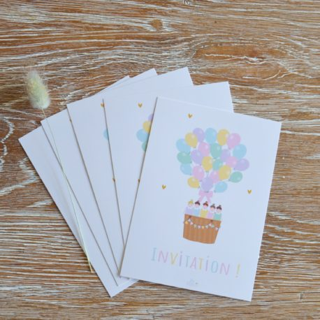 lot de 5 cartes filles