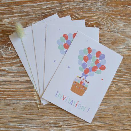 lot de 5 invitations -garcon