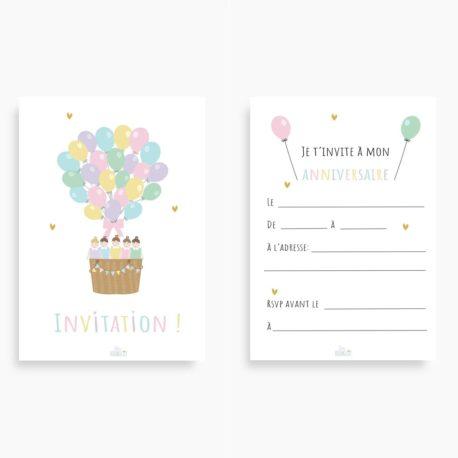 Cartes d'invitation FILLES