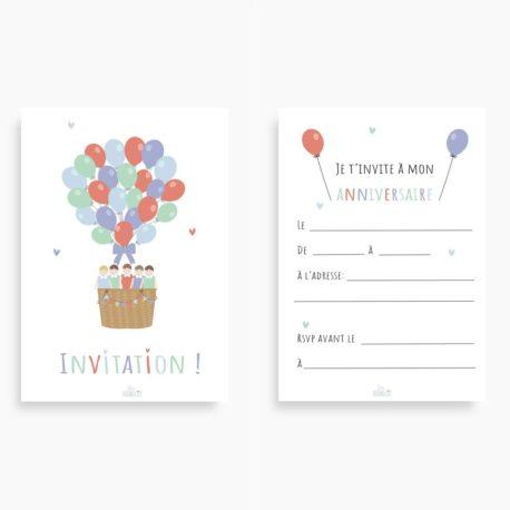 Cartes d'invitation GARCONS
