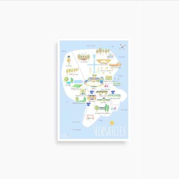 """La petite carte """"Le Versailles des petits bourricots"""""""