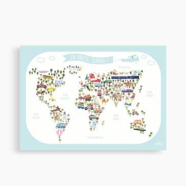 Affiche du Monde personnalisée